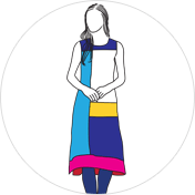 Colour-block Kurti